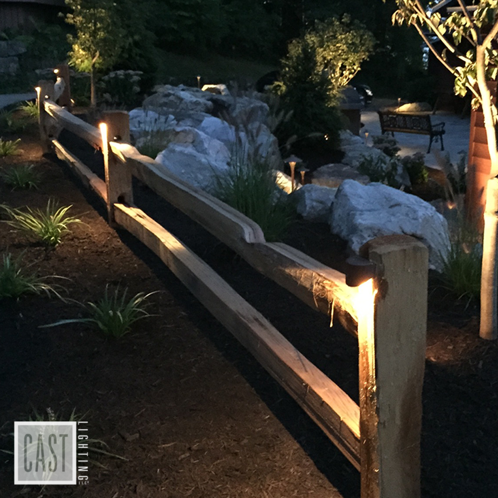 Deck Light Mounted On Fence Gallery Outdoor Landscape