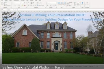 SESSION 3: Selling Using a Virtual Platform  - Using Excel to Layout Your Lighting Design for Your Presentation