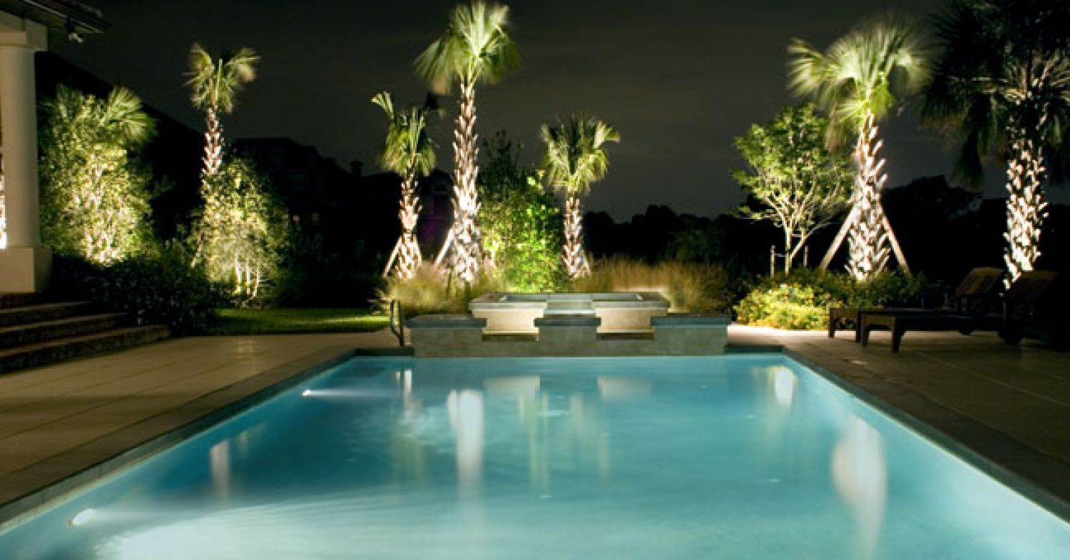 Image of: How To Light Pools For The Ultimate Summer Dream Outdoor Landscape Security Solutions Cast Lighting