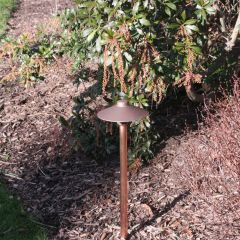 CAST Craftsman China Hat Integrated LED or Drop-In Path Light